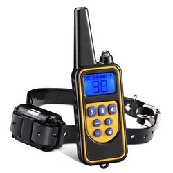 Waterproof LCD Pet Dog Remote Training Collar Shock Bark Stop Dog raining Collar