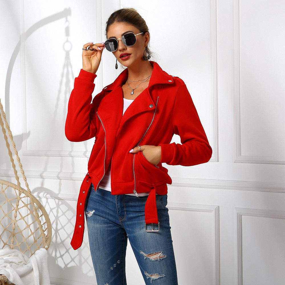 KYB9102 Fall / Winter women button zipper pocket short Jacket coat