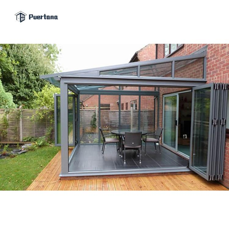 Cheap Price of Aluminum Prefabricated Conservatory Glass House For Sell