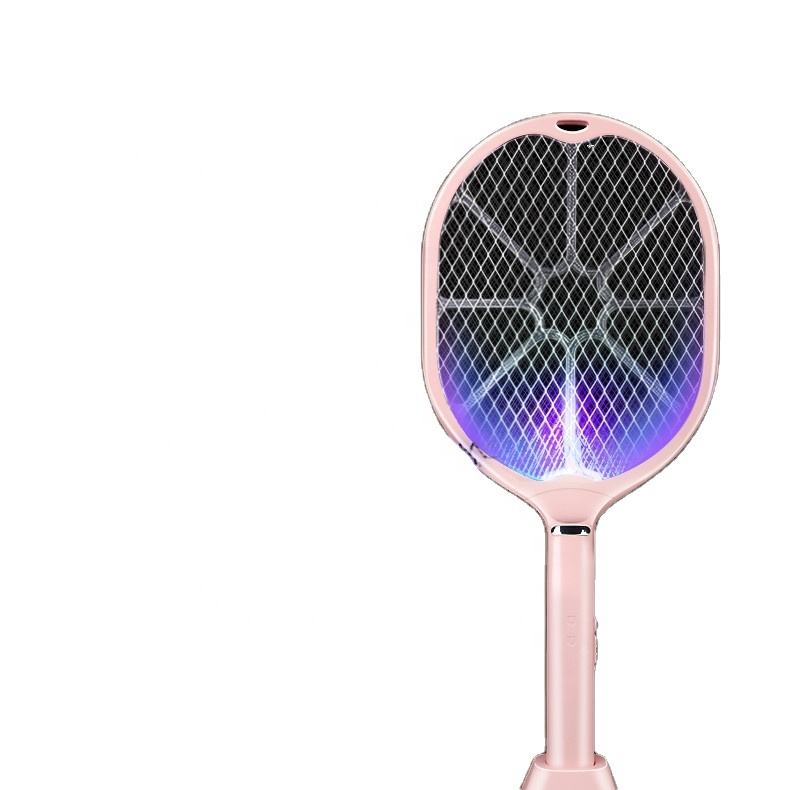 2 in 1 Electric mosquito swatter USB rechargeable household super powerful lithium battery flies against mosquitoes killer bats
