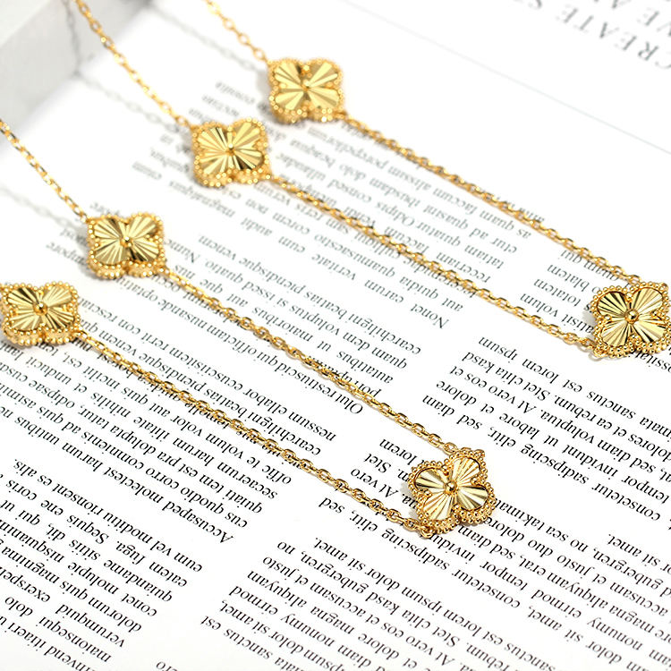 Children's [ Necklace Women ] Fashionable New Design Pendant Zircon 24 K Gold Color Necklace For Women