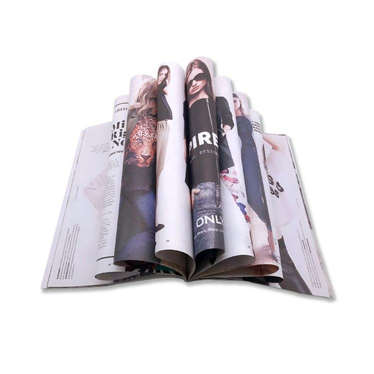 Customized color recyclable paper printing magazines booklet affordable magazine printing service