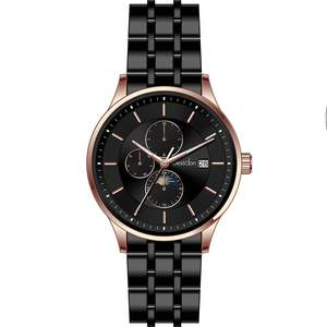 2020 5ATM stainless steel custom watch moon phase fashion stainless steel strap men wristwatch