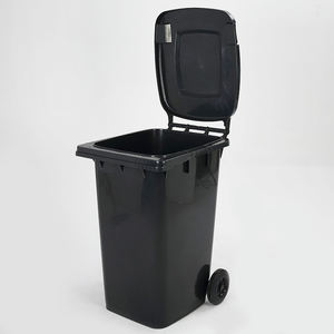 240 Liter HDPE Outdoor Recycle Waste Bins Plastic Trash Can Garbage Bin With Lid