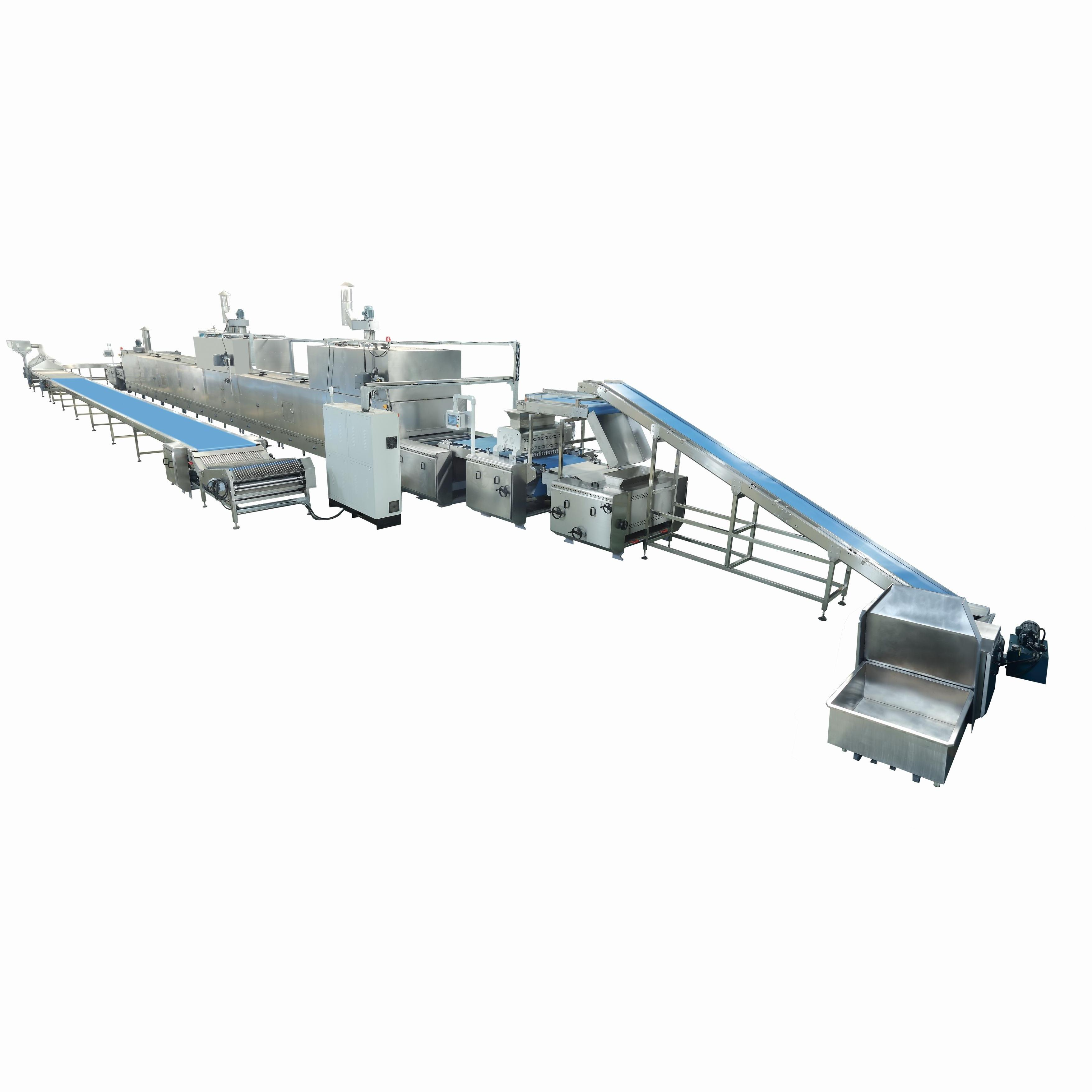 Automatic Biscuit Making Machine Price/Biscuit Baking Equipment Processing Line/Soft Hard Biscuit Production Line