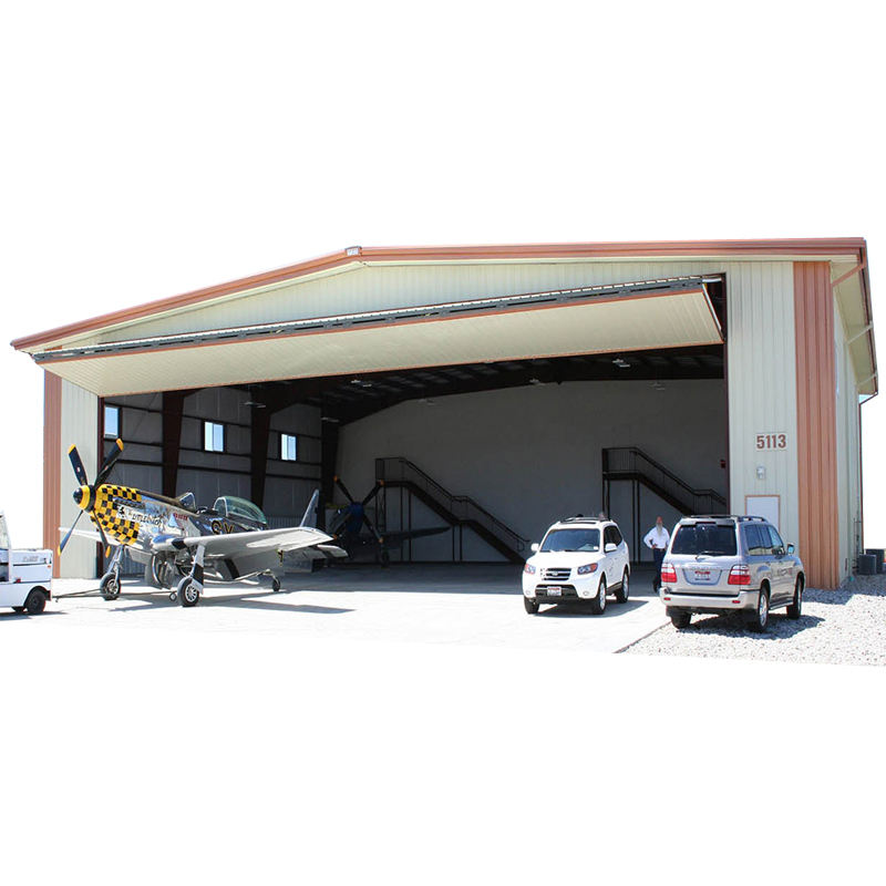 Qingdao Director corrugated steel structure aircraft hangar steel frame building