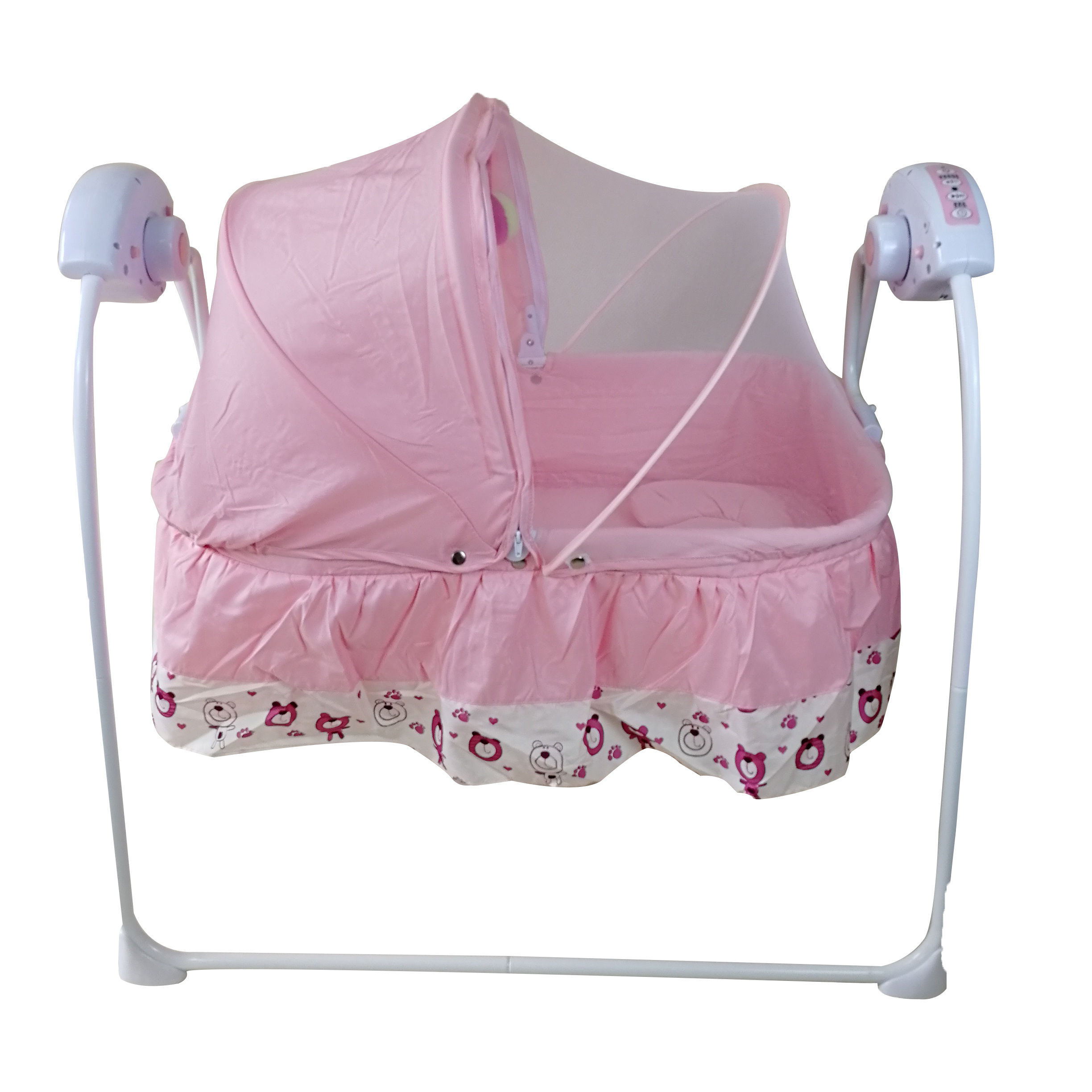 Wholesale Automatic Baby swing Cradle sleepy dream Metal baby cribs stable iron frame swing baby bed cradle