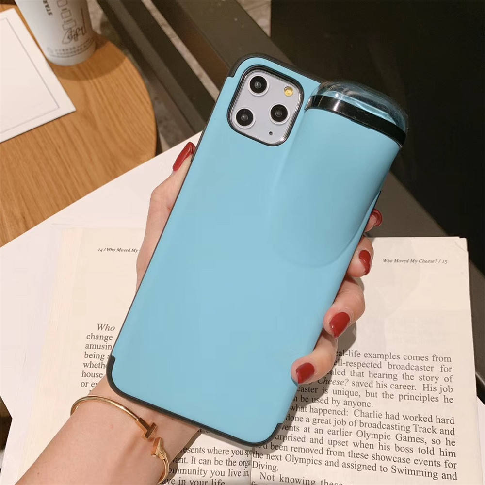 2020 Unique 2 In 1 Liquid Silicone Case Phone for iPhone 11 Cover with for Airpods 1 2 3 Holder
