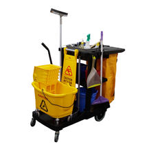 Housekeeping Service Plastic Cleaning Hotel Service Trolley Maid Cart