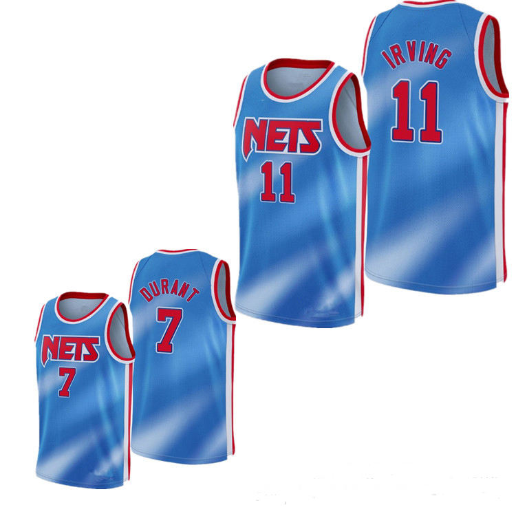 Basket-Ball en gros sports d'équipe 2021 nouveau 7 Kevin Durant Kyrie 11 Irving basket-ball <span class=keywords><strong>Maillots</strong></span>
