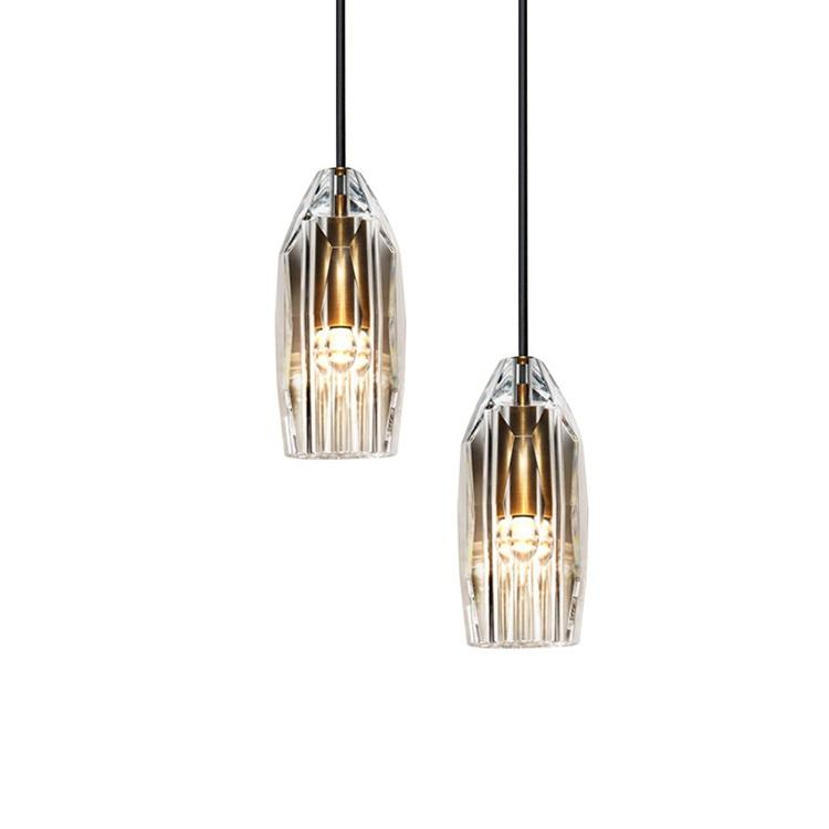 Good quality residential decoration fixtures copper crystal led pendant light
