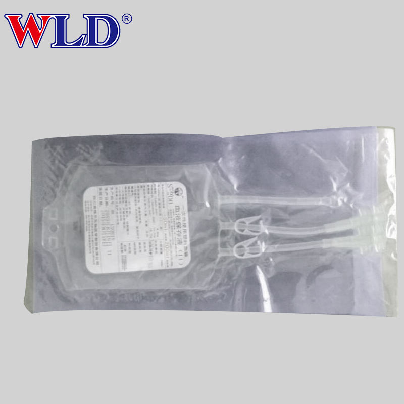 Transparent disposable jms collection blood bag