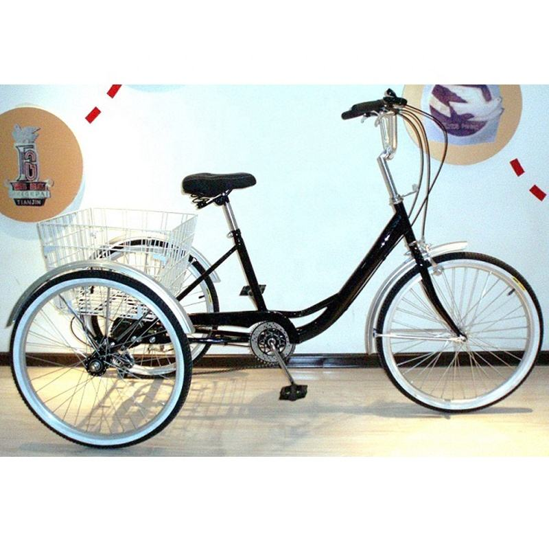 24inch single speed 3 wheel bike/ pedicab/folding trike/tricycles china