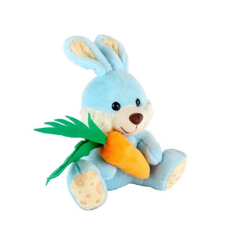 Bunny cute rabbit Stuffed Animal doll baby soft Plush Toy Carrot in hand
