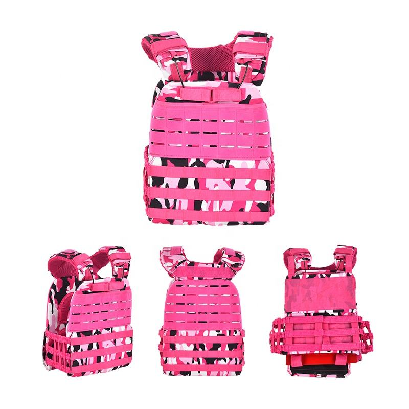 Wholesalers Hot Sale Waterproof Protective Plate Carrier Weight Vest Fashion Military Pink Tactical Vest
