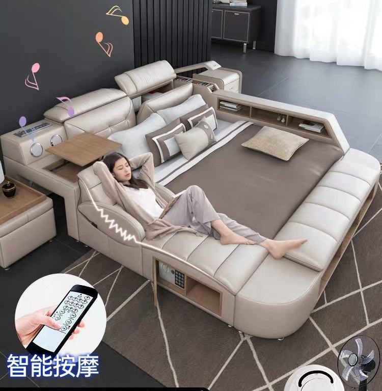 Multifunctional beds modern tatami massage bed master bedroom set