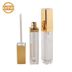 Luxury new design gold LED light empty lip gloss container tube mirror