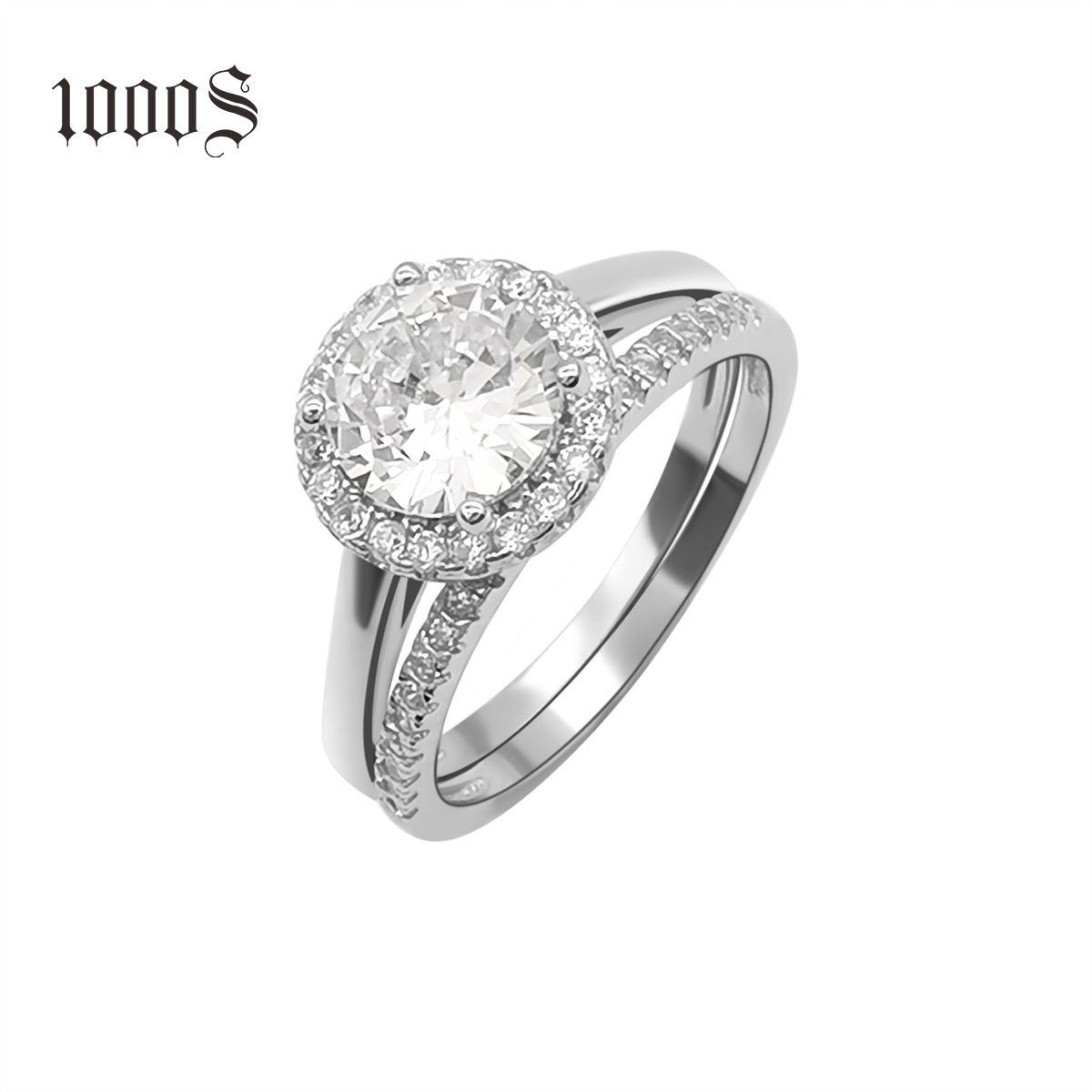 925 sterling silver rhodium plating Engagement Ring Custom Women Wedding Rings