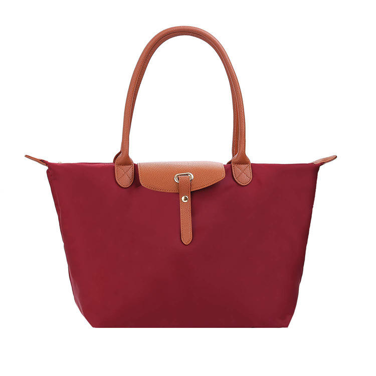 New promotional waterproof summer nylon woman beach bag large capacity handbag shoulder tote bag