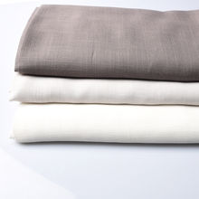 sample product 100% polyester  linen look ifr sheer fabric different color double sided  for hotel