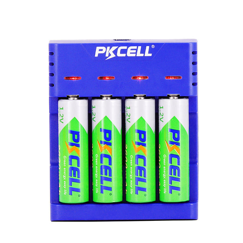4 slots Smart Battery Charger Fast Charger AA AAA Ni-MH / Ni-Cd Batteries Rechargeable Quick Charger US/EU/UK/AU plug