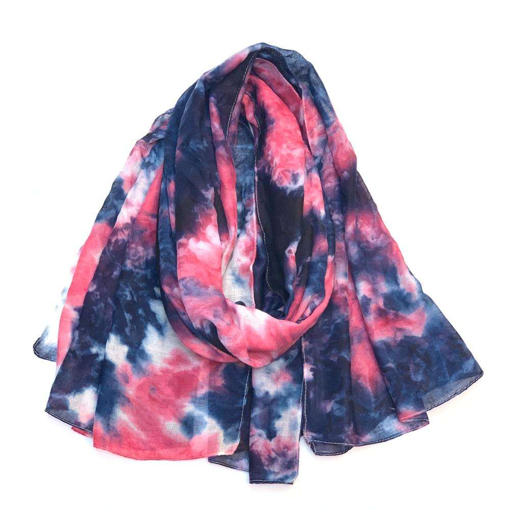 fashion tie dye scarf for girls hot sell for america and europe two colors tie dye for girls viscose scarves and shawls