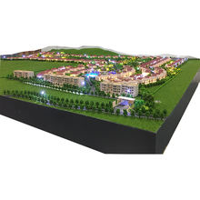 New made scale  project 3d model display for master villas