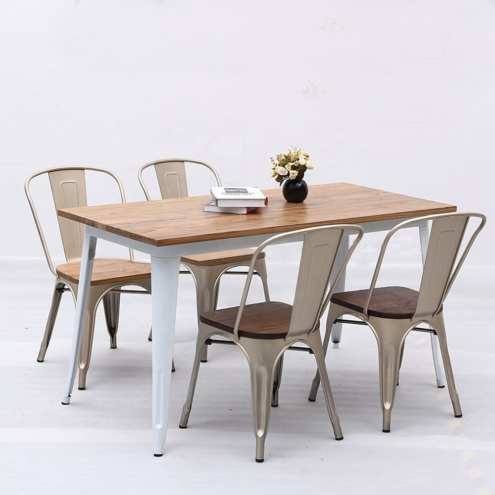 (SP-CT760) High quality metal table and chair furniture sets for restaurant