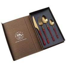 XMY Hongda European Style RestaurantFlatware Hotel 304 Stainless Steel Metal Cutlery Set