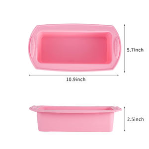 Baking tools silicone cake mould ears rectangle silicone molding toast bread mold