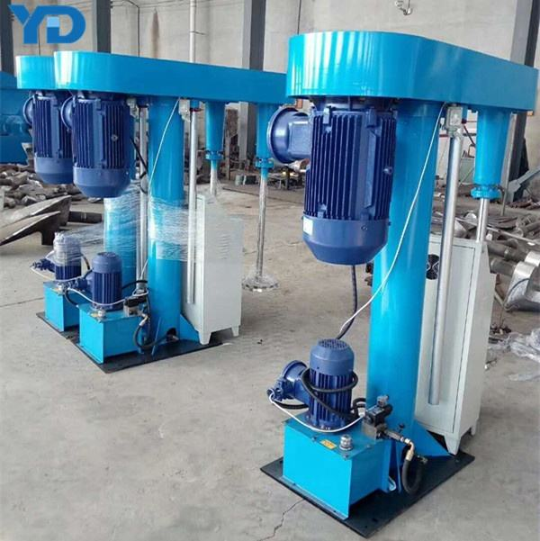 High speed mixing equipment with hydraulic lifting for paint mixing