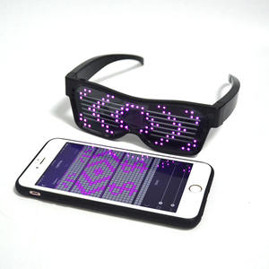 Customized Rechargeable Bluetooth Magic Scrolling Message Party Led Glasses
