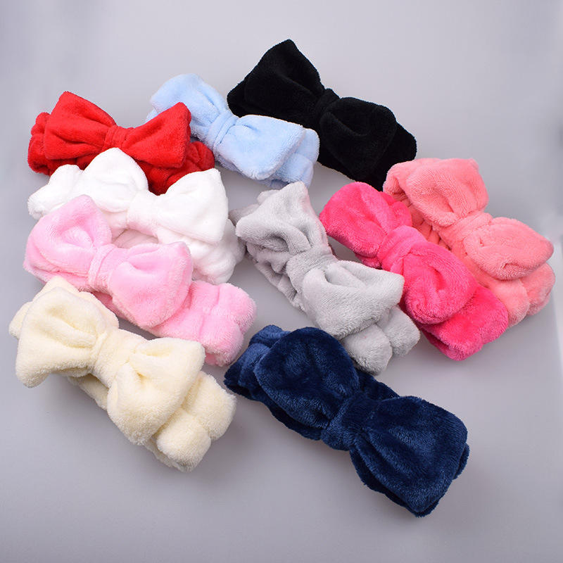 New pure color face wash headband beauty headband cute head jewelry