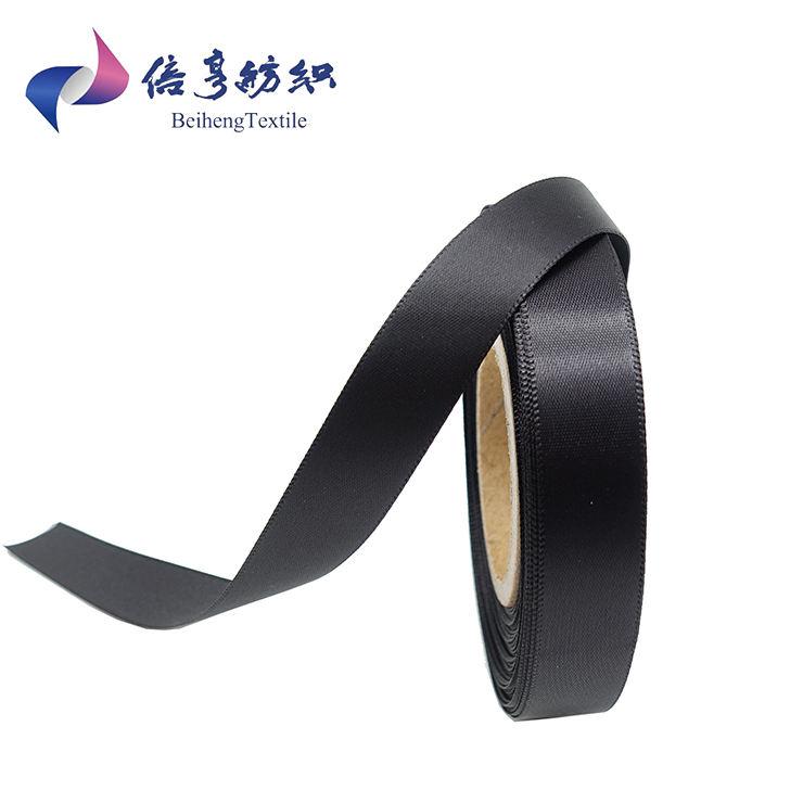 Black Color And White Custom Polyester Satin Ribbon China