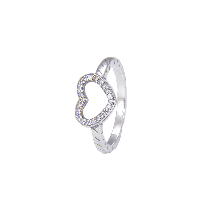 Sterling silver heart rings for girls wholesale pure silver 925 rings
