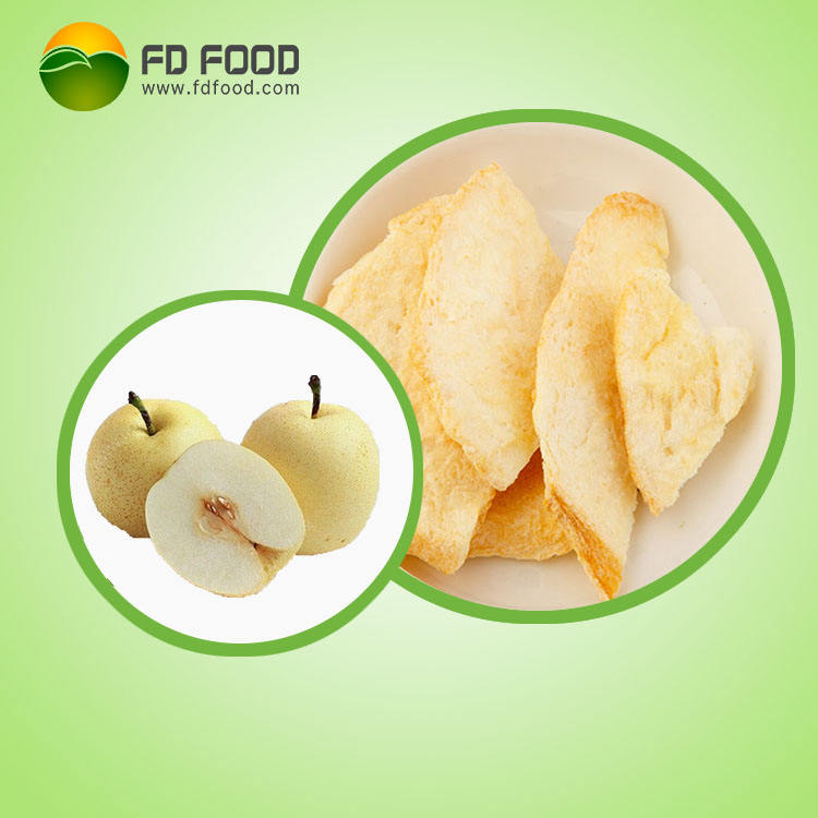 No Additives or Preservatives fd pear freeze dried pear chips
