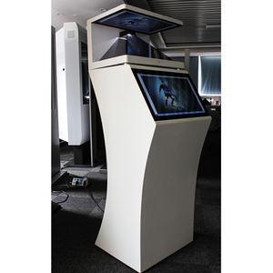 55 inç dokunmatik ekran 3d hologram reklam ekranı projektör