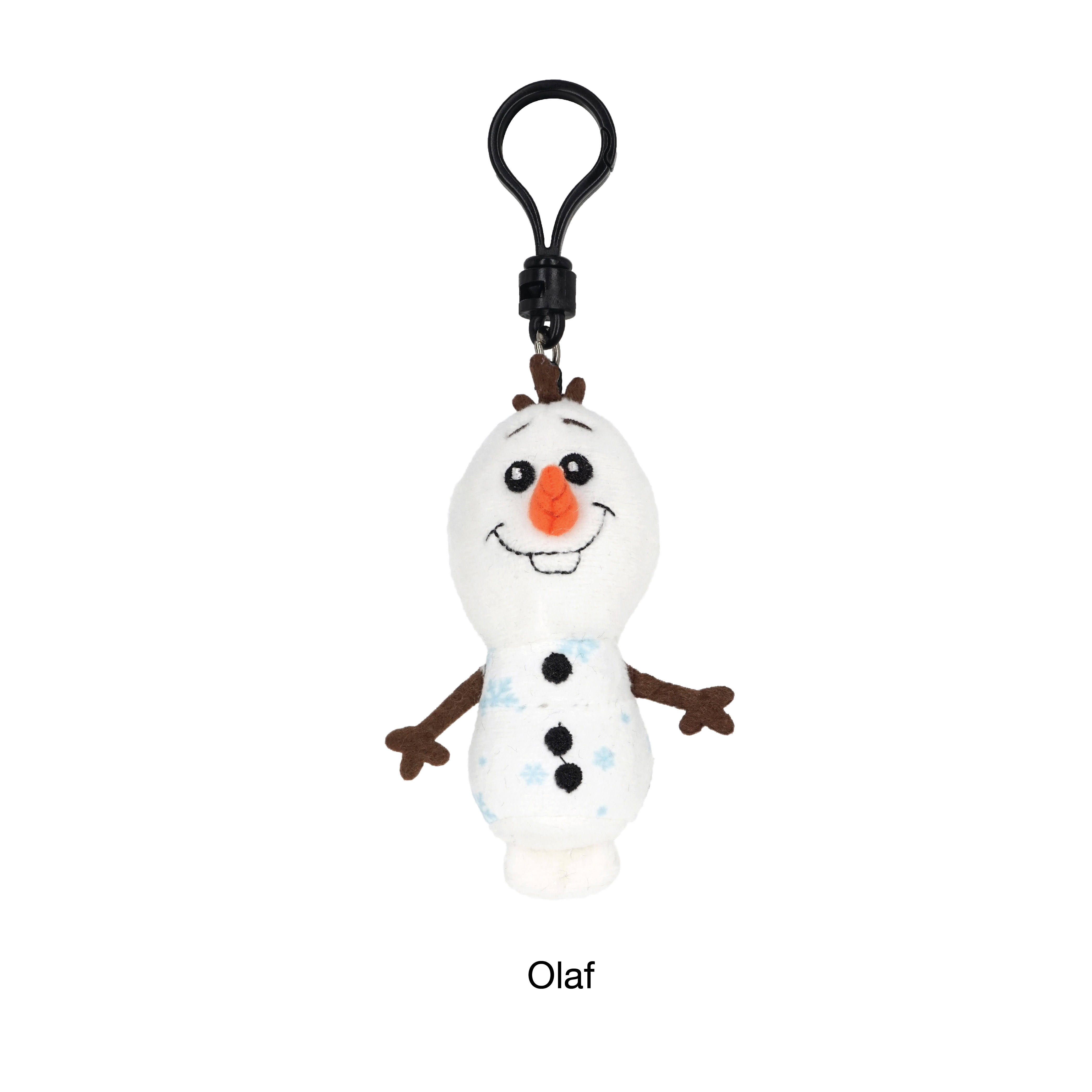 HOT SELLING CHARACTER PLUSH GIFT TOY OFFICE FURNITURE 3D FOAM FIGURES DISNEY FROZEN 2 BAG CLIP KEYRING FOR FAMILY