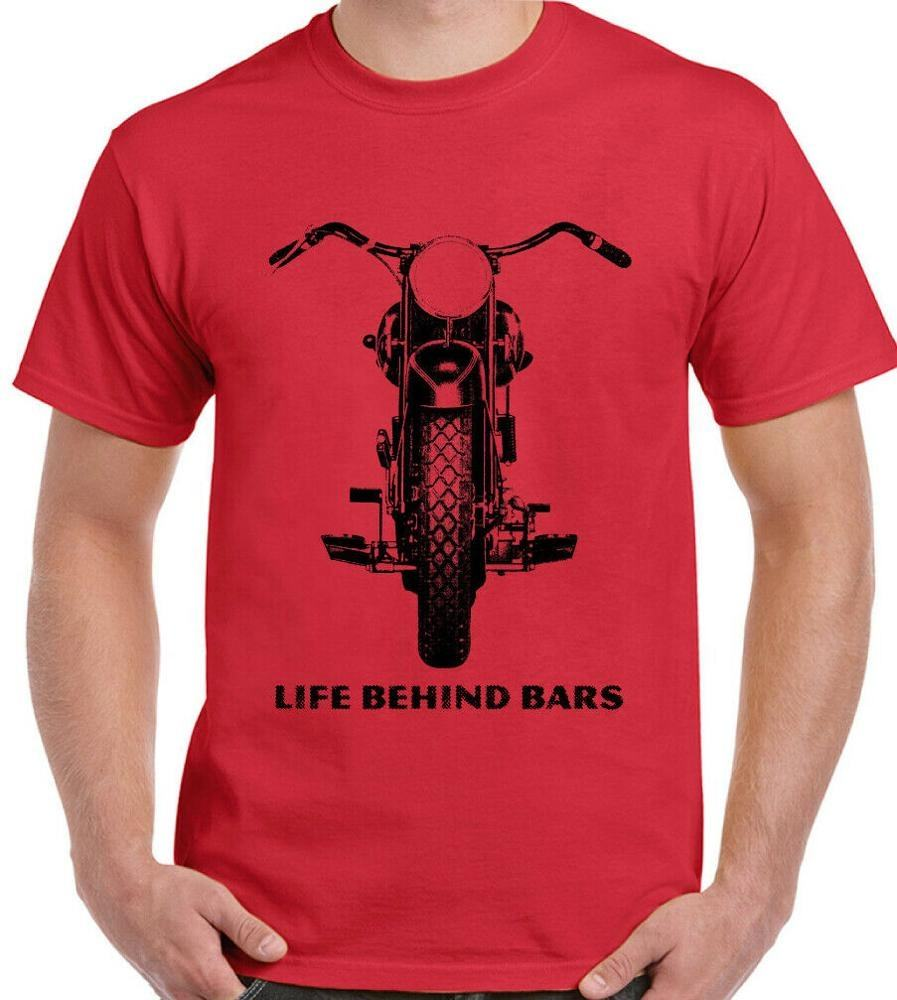Mens Divertente Biker T-Shirt Moto Moto <span class=keywords><strong>Indiano</strong></span> Triumph Chopper Cafe Racer