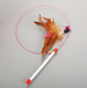 Hefei SY wholesale catfish fishing supplies stainless steel teaser stick wand cat toys with feather mouse