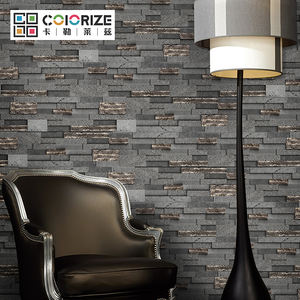 600x180mm 10~25mm interior stone wall clad Drak Grey 3D Culture stone Panel basalt wall cladding