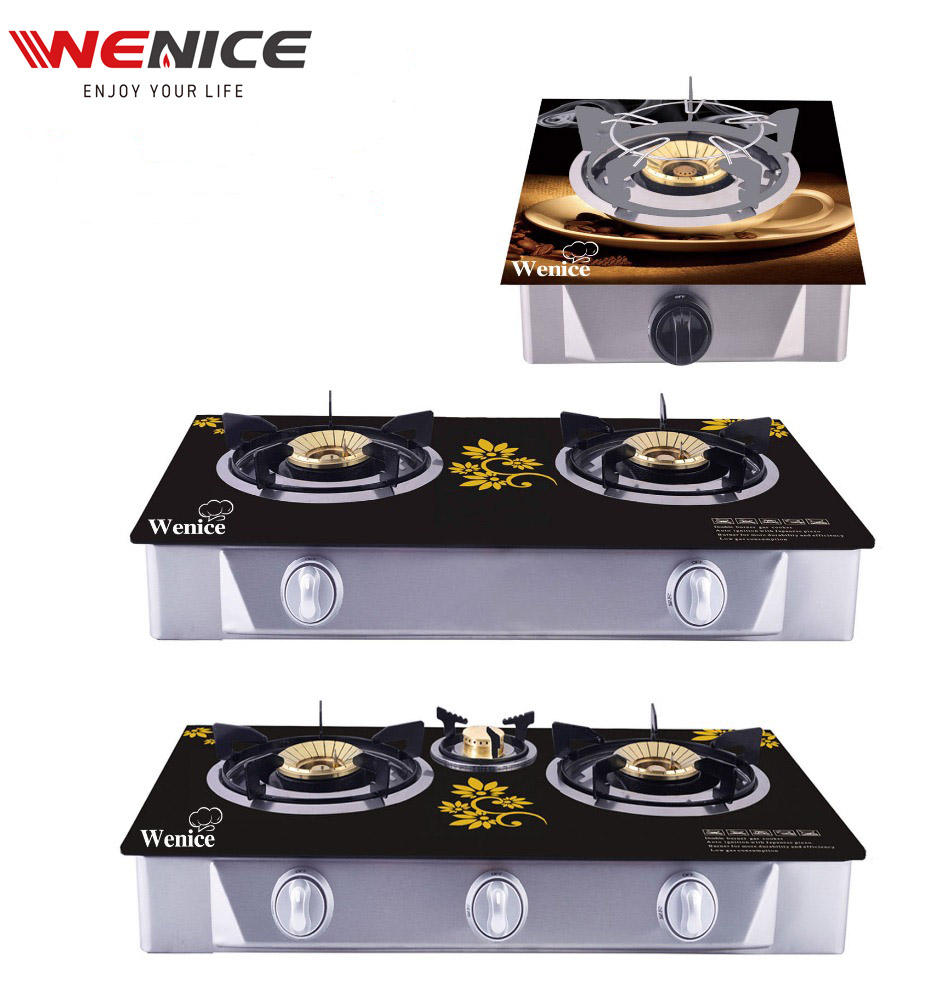 portable glass table tp gas stove