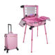 Aluminum LED Light Touch Screen Rolling Trolley Vanity Cosmetic Makeup Case With Lights