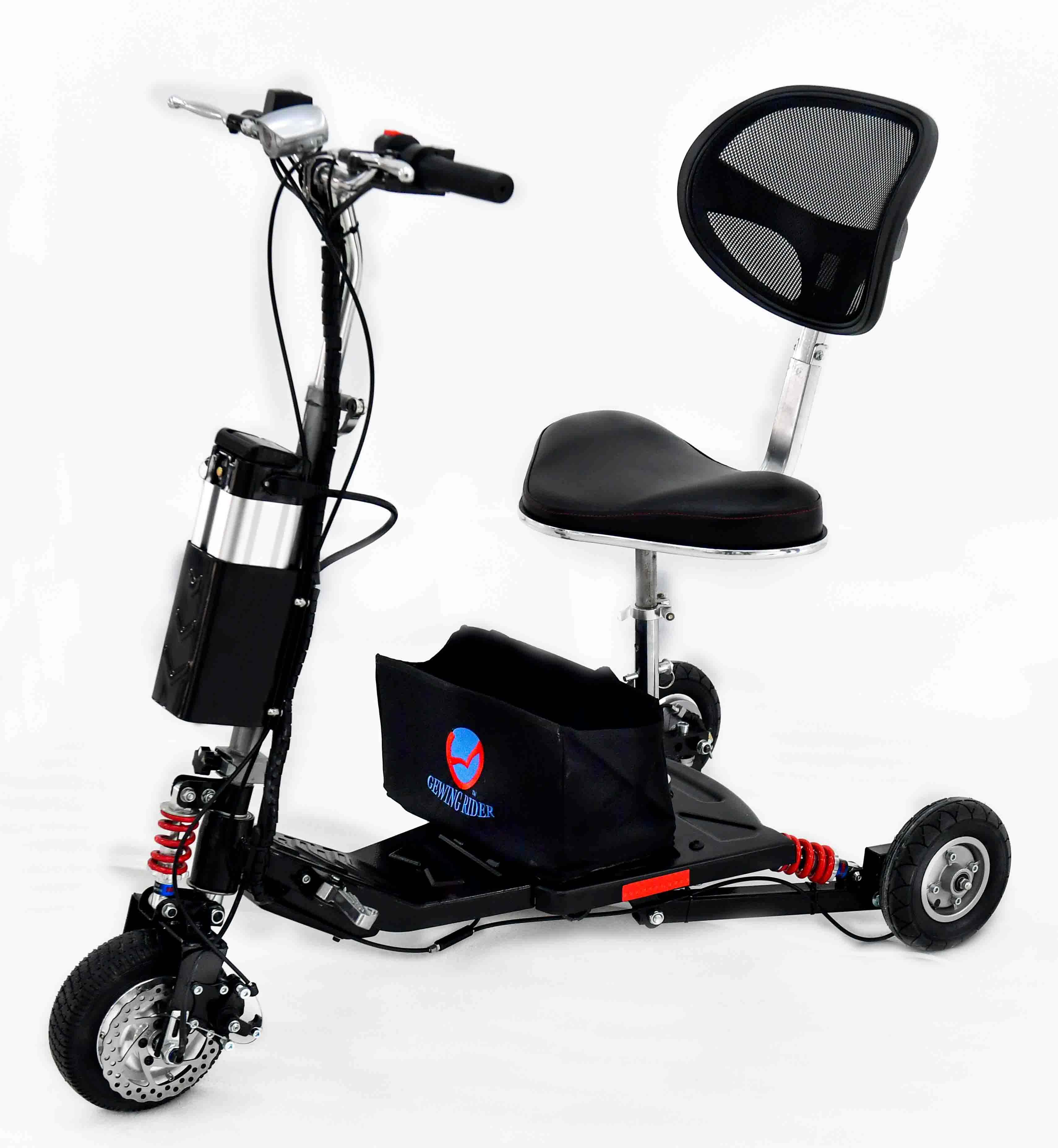Lithium Electric Scooter with CE approved 3 Wheel handicapped Scooter