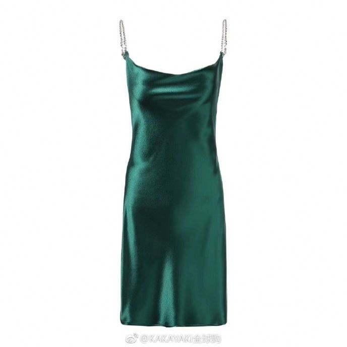 2019Latest ladies sexy V neck turquoise slip dress women fashion shining satin summer dresses rhinestones straps casual dress
