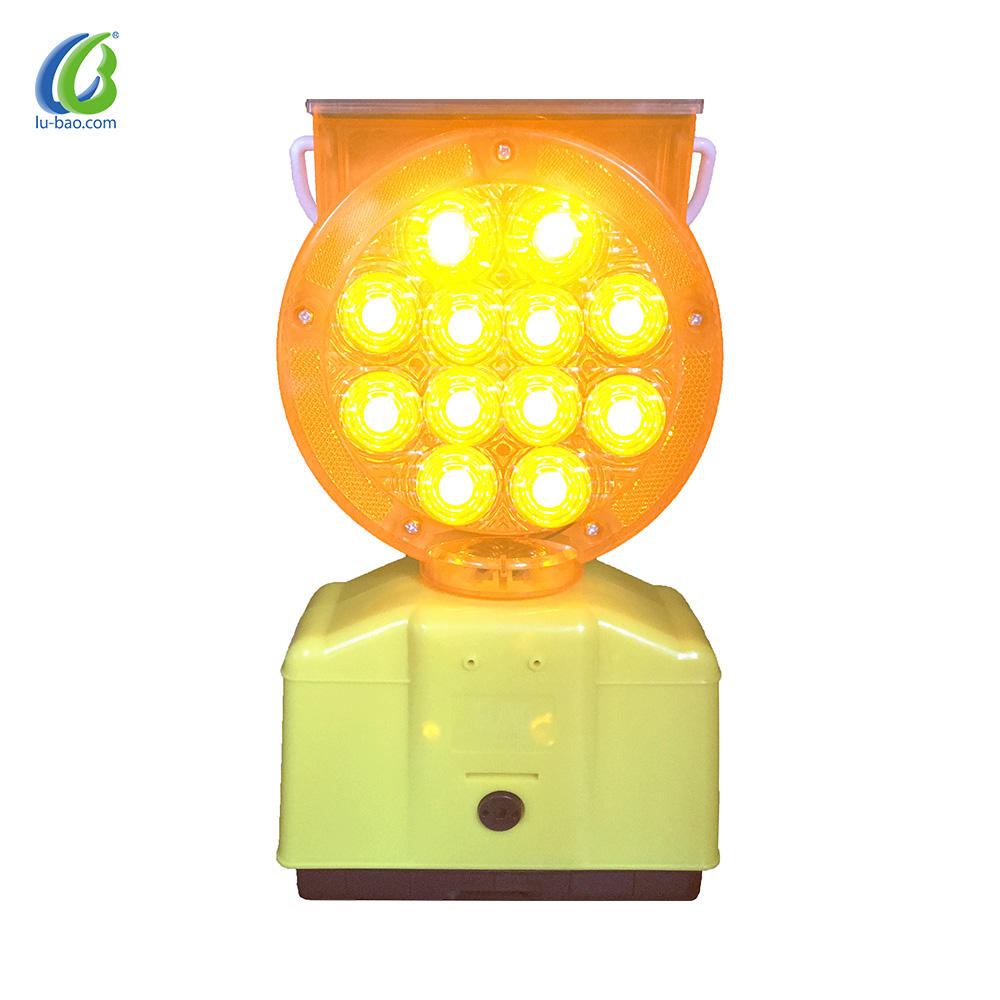 Custom Fabrication High Visibility Ultra Bright Flashing Strobe Solar Traffic security prompt Light With CE Certification