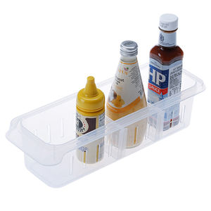 Clear Plastic PP Kitchen Storage Box with dividers