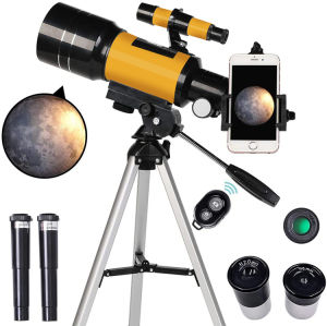 Portable Travel Telescope 70mm Astronomical Refracting Telescope for Kids Beginners with Tripod