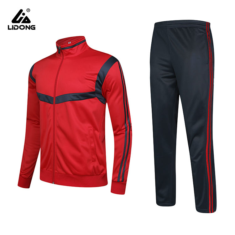 Custom Groothandel Training Voetbal Sportkleding, Top Kwaliteit Team Club Mannen Training Jogging Plain Trainingspak