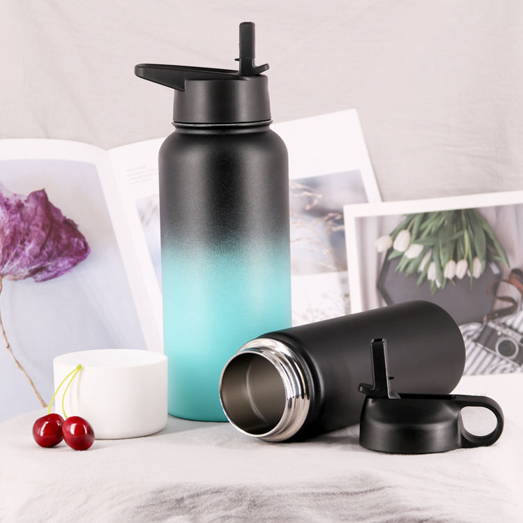 32oz Sport Water Bottle Stainless Steel Travel Portable Double Wall Vacuum Insulated Standard Mouth Travel Mug Flask